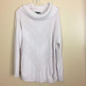 Banana Republic Factory Pink Cowl Neck Sweater